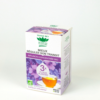 "Concentrated organic herbal tea ""Better control transit"" - 18 teabags"