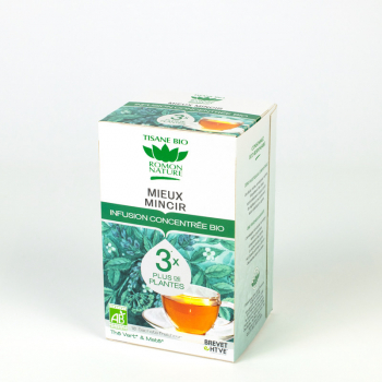 "Concentrated organic herbal tea ""Better slimming"" - 18 teabags"