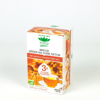 "Organic concentrated herbal tea ""Better manage your detox "" - 18 teabags"