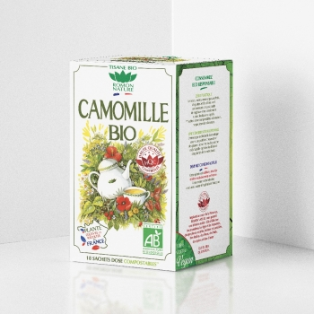 Organic French Chamomile Herbal Tea - 18 teabags
